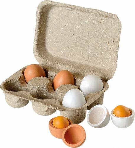 Eierset aus Holz