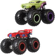 Mattel FYJ64 Hot Wheels Monster Trucks 1:64 Die-Cast 2er-Pack Sortiment