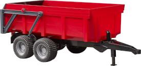 Bruder 02211 Wannenkippanhänger mit Automatikrückwand (rot)