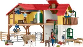 Schleich Farm World Bauernhaus mit Stall und Tieren
