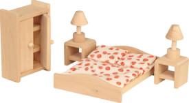 Puppenhausmöbel Schlafzimmer, 6 tlg., ab 3 Jahren