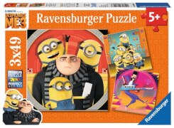 Ravensburger 080168 Puzzle  Abent.mit den Minions 3x49 Teile
