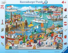 Ravensburger 61525 Puzzle: Ein Tag am Hafen, 24 Teile