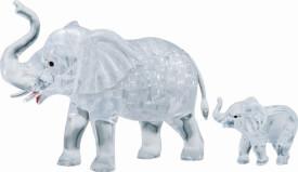 3D Crystal Puzzle Elefantenpaar 46 Teile