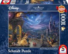 Schmidt Puzzle 59484 Thomas Kinkade, Disney, Die Schöne und das Biest, Tanz im Mondlicht, 1000 Teile, ab 12 Jahre