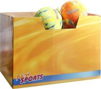 New Sports Fußball Größe 5, PVC, 2-fach sortiert, unaufgeblasen